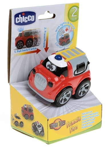 Toy Turbo Team Workers Fıre Truck-Chicco